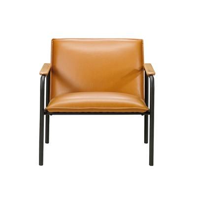 Sauder Boulevard Café Metal Lounge Chair Camel Finish