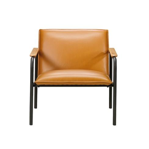 Sauder Boulevard Caf Metal Lounge Chair Camel Finish - image 1 of 3