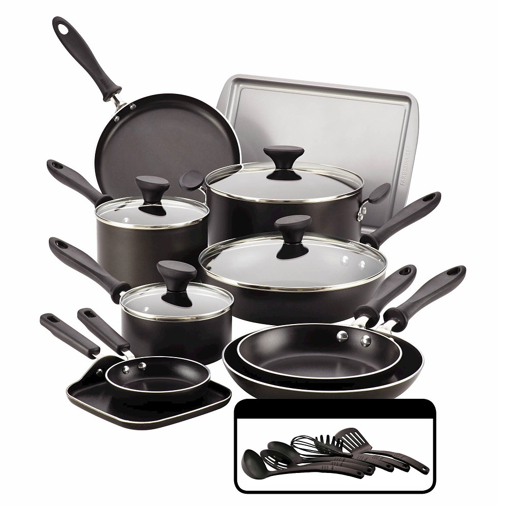 Image of Farberware Reliance 20Pcs Cookset - Black