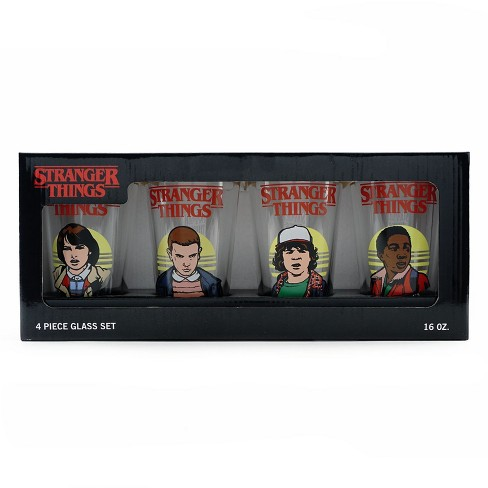 Loungefly Stranger Things Mike Eleven Dustin Lucas 4 Glass Cup Set - image 1 of 2