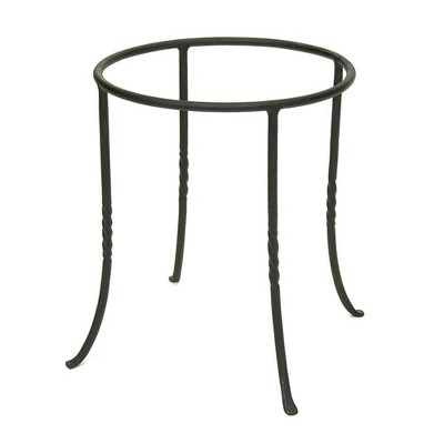 "14"" Patio Ring Iron Plant Stand Black - ACHLA Designs"