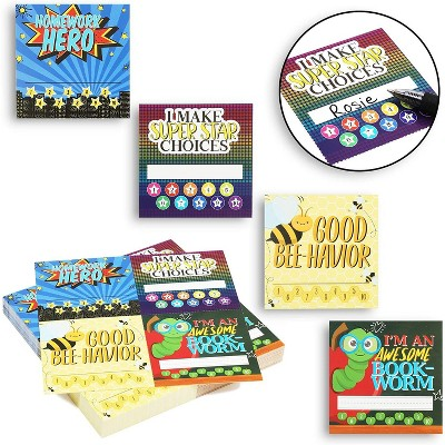 144-Pack Good Behavior Incentive Reward Cards, Motivate Kids Students, Ideal for Classroom, Home & Teacher, 3x3 inches