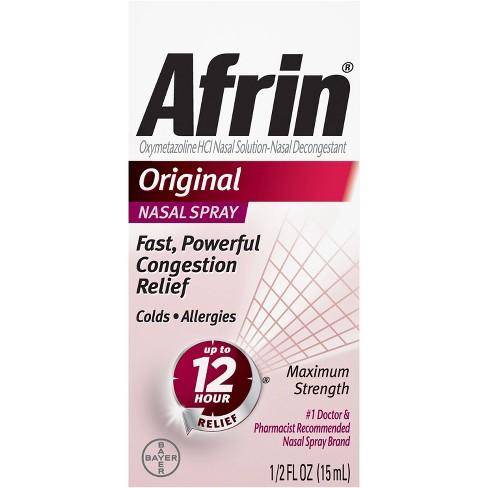Afrin No Drip Original Congestion Relief Nasal Mist - 0.5 fl oz - image 1 of 5