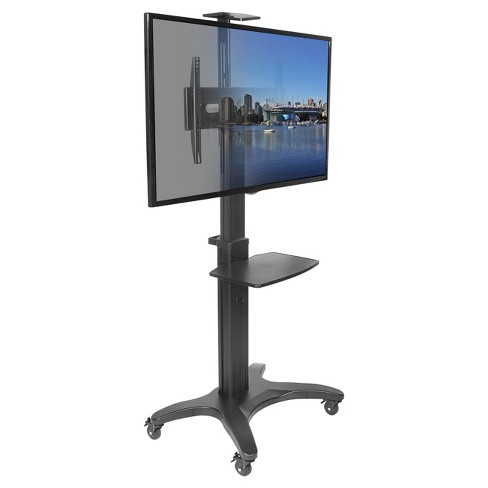 Kanto Mobile Tv Stand For 32 55 Flat Screen Display Black