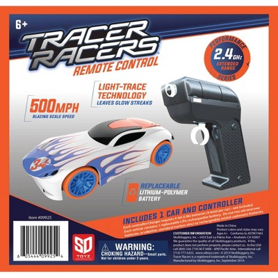 Skullduggery Tracer Racer RC Car and Controller - White