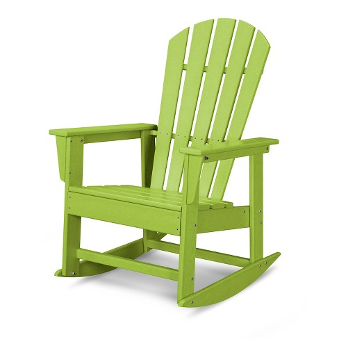 Superb Polywood South Beach Patio Rocking Chair Lime Ocoug Best Dining Table And Chair Ideas Images Ocougorg