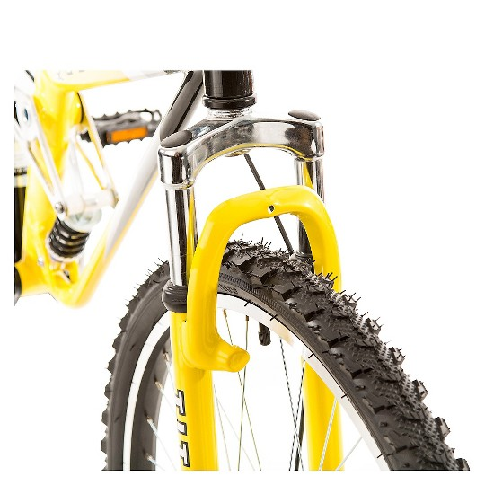 TITAN Glacier Pro Alloy Suspension Mountain Bike, Yellow and Black, Adult Unisex image number null