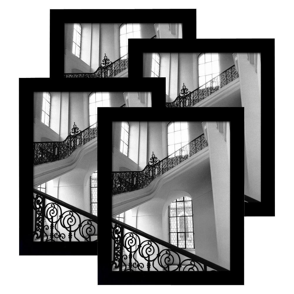 Flat Top Frame 4-Pack Black 8