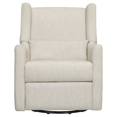 Babyletto Kiwi Glider + Electronic Recliner - White Linen