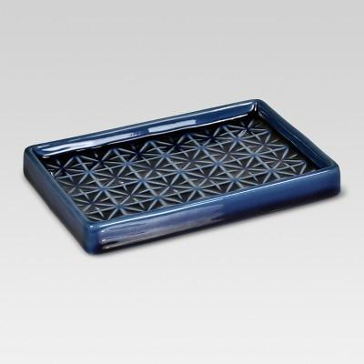 Glazed Geo Soap Dish Blue - Threshold™