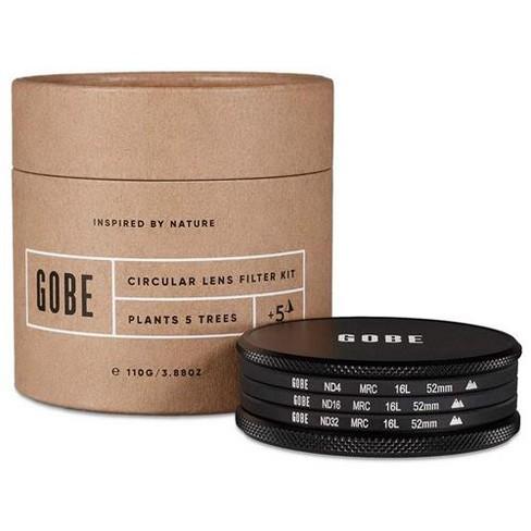 Gobe 52mm 16-Layer MRC Neutral Density Filter Kit, Includes ND4 0.6 (2-Stops), ND16 1.2 (4-Stops), ND32 1.5 (5-Stops) Neutral Density Filter - image 1 of 4