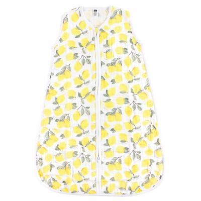 Hudson Baby Infant Girl Muslin Cotton Sleeveless Wearable Sleeping Bag, Sack, Blanket, Lemons