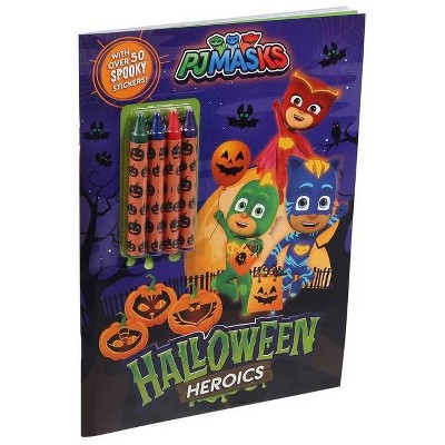 Pj Masks: Halloween Heroics - (Coloring Books With Covermount) (Paperback)  : Target