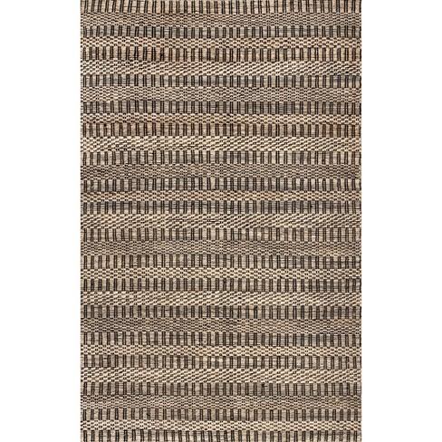 Nuloom Coraline Jute Striped Basketweave Area Rug Target