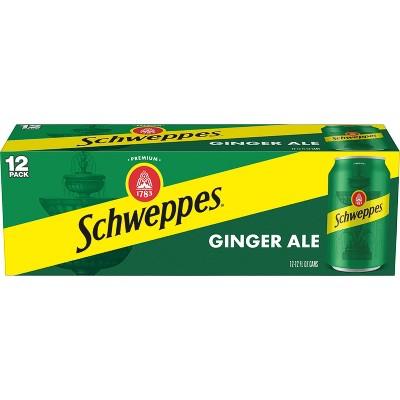 Schweppes Ginger Ale Soda - 12pk/12 fl oz Cans