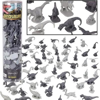 Hingfat Dinosaur Toy Figures Playset, 64 Pieces