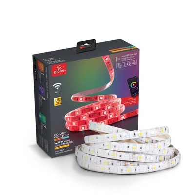 Smart 5M/16.4 ft. Changing RGB LED Wi-Fi Enabled Voice Activated Plug-In Strip Light