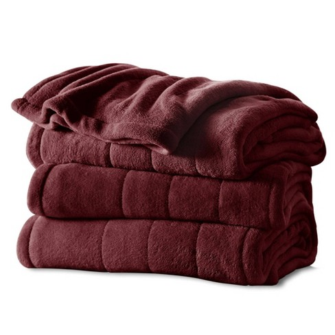 Channeled Microplush Electric Blanket - Sunbeam® - image 1 of 4