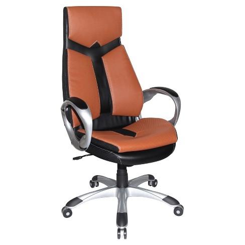 Jacob Office Chair Black And Sienna Brown - Boraam - image 1 of 1