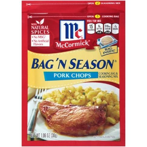 McCormick Bag'N Season Pork Chops 1.06 oz - image 1 of 1