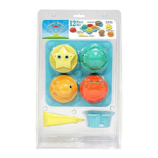 Melissa & Doug Sunny Patch Seaside Sidekicks Sand Cupcake Play Set image number null