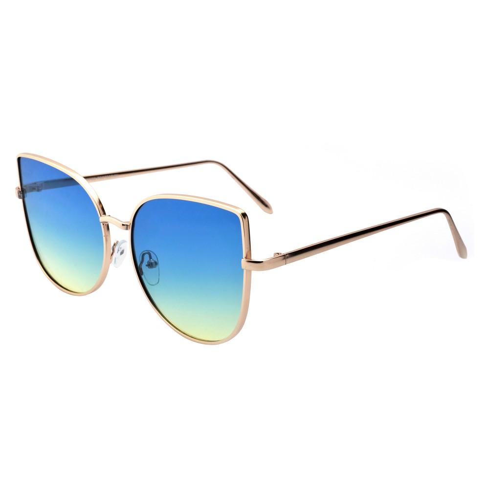 Women's Cateye Sunglasses - Gold, Bright Gold