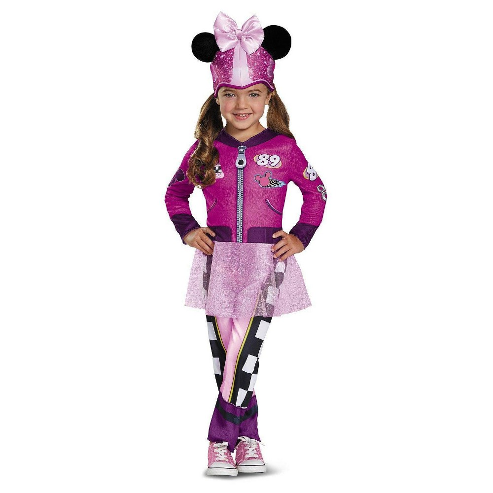 Toddler Girls' Minnie Mouse Roadster Classic Costume - 3T-4T, Multicolored