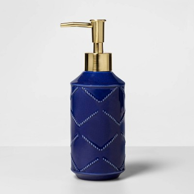 Soap Pump with Brass Head Blue - Opalhouse™
