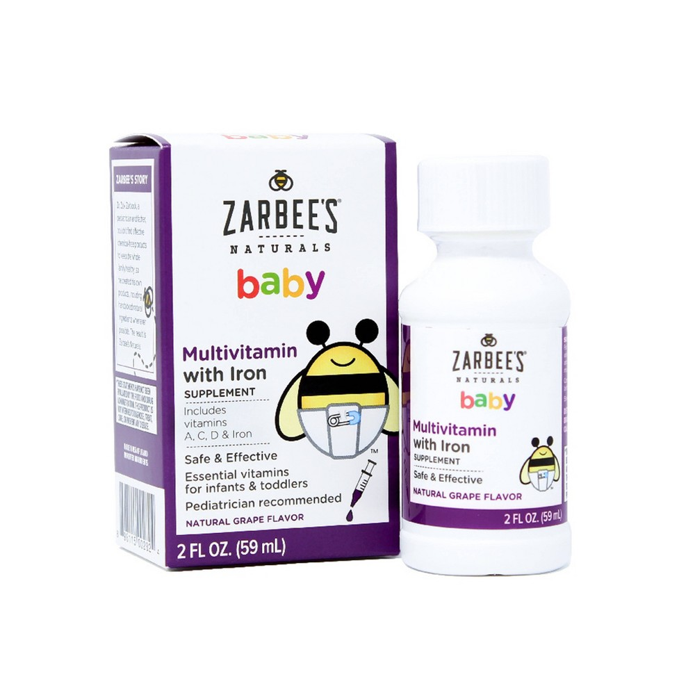 Zarbee's Naturals Baby Multivitamin with Iron - Grape - 2 fl oz Zarbee's Naturals Baby Multivitamin with Iron Supplement is specifically designed to meet the needs of growing babies and toddlers. Safe for babies as young as two months, this effective multivitamin supplement is an excellent source of nine essential vitamins plus iron(en)to help meet their growing needs, from supporting bone health to eyesight, to a strong immune system.* This multivitamin supplement has a naturally sweet agave syrup base and a yummy natural grape flavor with no unpleasant medicinal taste. Founded by a pediatrician and father looking for a healthy and chemical-free alternative for his family, Zarbee's Naturals Baby Multivitamin with Iron Supplement is made with carefully-sourced, wholesome ingredients with no drugs, alcohol, gluten, artificial dyes, flavors, sweeteners, or preservatives. *These statements have not been evaluated by the Food and Drug Administration. This product is not intended to diagnose, treat, cure, or prevent any disease. Gender: Unisex. Age Group: Infant.