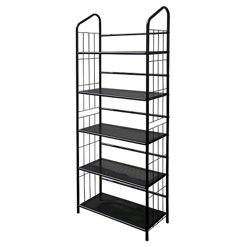 "64"" 5 Tier Metal Book Shelf Black - Ore International - image 1 of 1"