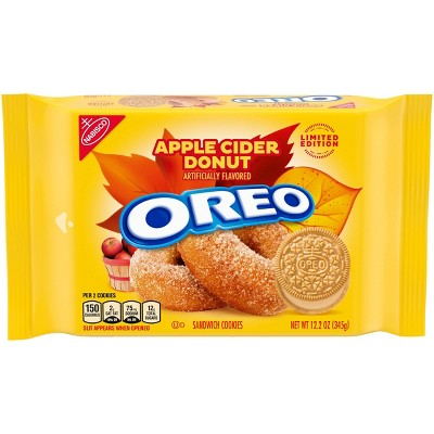 Oreo Limited Edition Apple Cider Donut Sandwich Cookies Family Size - 12oz