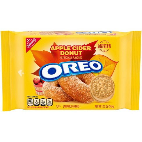 Oreo Limited Edition Apple Cider Donut Sandwich Cookies Family Size - 12oz - image 1 of 4