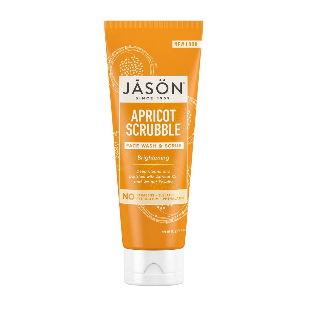 Image of Jason Apricot Scrubble Brightening Face Wash & Scrub - 4oz