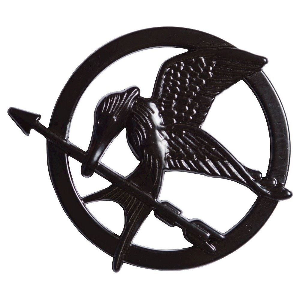 Mockingjay Part 1 Mockingjay Pin Black, Adult Unisex