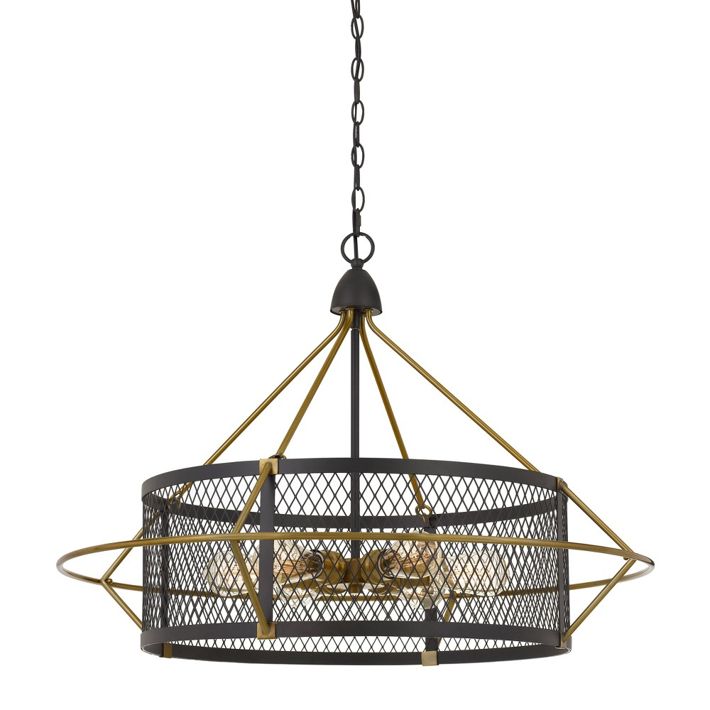 60W X 6 Caserta Metal Chandelier With Mesh Shade Ceiling Light (Edison Bulbs Not Included) - Cal Lighting, Multi-Colored
