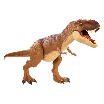 Jurassic World Super Colossal Tyrannosaurus Rex Figure T-Rex Jaws Open Toy Dino