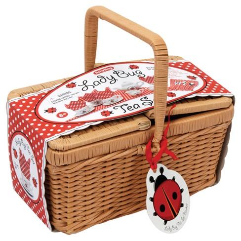 Schylling Ladybug Tea Set Basket   Target a0ac6e2cfced