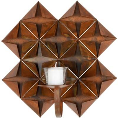 Origami Pillar Wall Décor - Antique Copper - Safavieh