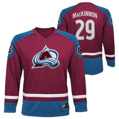 NHL Colorado Avalanche Nathan MacKinnon Boys' Jersey - L