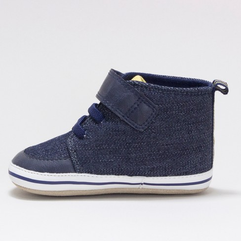 5ae1dfccc089 Baby Boys  Surprize By Stride Rite Chris Soft Sole High Top Sneakers - Navy    Target