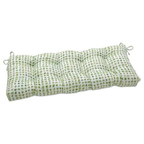 """48"""" x 18"""" Outdoor Tufted Bench/Swing Cushion Alauda Grasshopper Green - Pillow Perfect - image 1 of 1"""