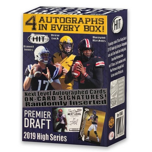 2019 NFL HIT Premier Draft High Series Football Trading Card Blaster Box - image 1 of 2