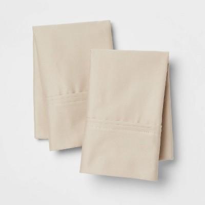 Standard 400 Thread Count Solid Performance Pillowcase Set True Khaki - Threshold™