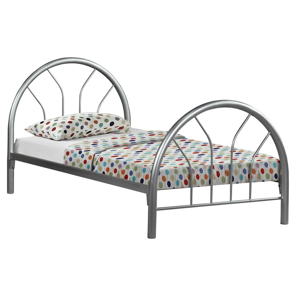 Metal Kids Bed Frame- Twin - Silver - EveryRoom