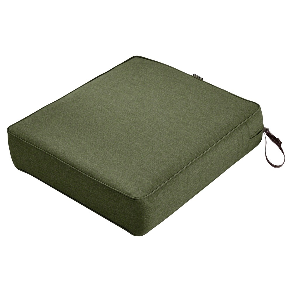 Image of Montlake Fadesafe Rectangular Patio Lounge Seat Cushion Set - Heather Fern Green - Classic Accessories