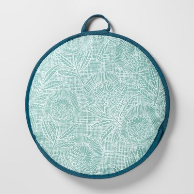 Tortilla Warmer 12  Green/Blue Floral - Opalhouse™