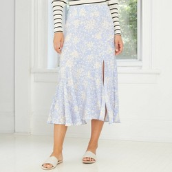 Women's Floral Print Midi Slip Skirt - Who What Wear™