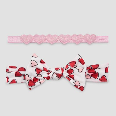 Baby Girls' 2pk Heart Headwrap - Just One You® made by carter's