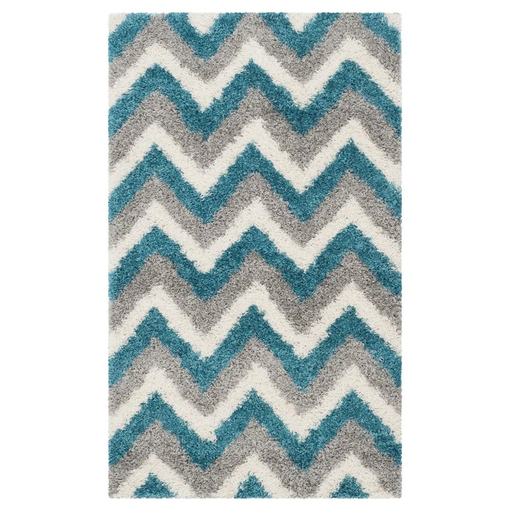 Adken Area Rug - Ivory/Blue (4'x6') - Safavieh
