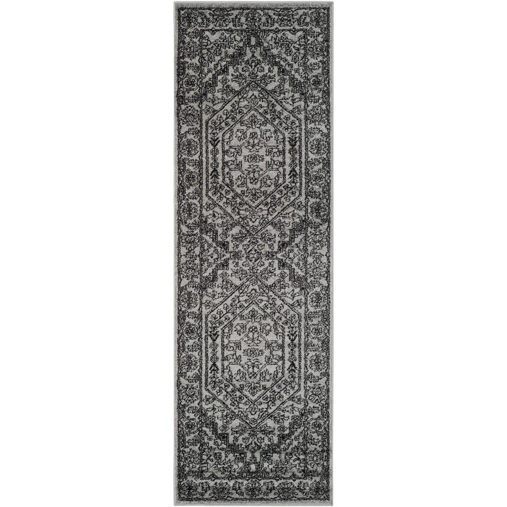 Aldwin Runner - Silver/Black (2'6x20') - Safavieh